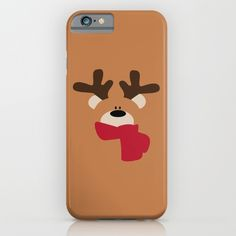 Christmas Reindeer-Bear iPhone Case - Protect your iPhone with a one-piece, impact resistant, flexible plastic hard case featuring an extremely slim profile. Simply snap the case onto your iPhone for solid protection and direct access to all device features.