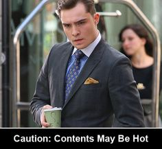 More funny captions at http://gossipgirl.alloyentertainment.com/chuck-bass-holding-coffee/