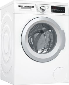 Buy Bosch Serie 6 Freestanding Washer Dryer, Dry Load, A Energy Rating, Spin, White from our Washer Dryers range at John Lewis & Partners. Free Delivery on orders over Laundry Appliances, Home Appliances, Bosch Washing Machine, Washing Machines, Bosch Siemens, Moto Suzuki, American Style Fridge Freezer, Belgium, Frugal