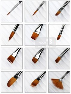 Amazon.com: Bestwoohome Nylon Hair Paint Brush Set Artist Watercolor Acrylic…