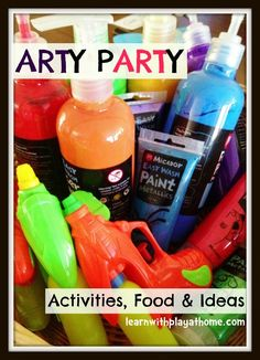 Learn with Play at Home: Ideas for an Art Party. Activities, food and more.