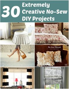 30 Extremely Creative No-Sew DIY Projects – DIY & Crafts