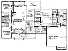COOL house plans offers a unique variety of professionally designed home plans with floor plans by accredited home designers. Styles include country house plans, colonial, Victorian, European, and ranch. Blueprints for small to luxury home styles. The Plan, How To Plan, Plan Plan, Country Style House Plans, Country Style Homes, Southern Style, House Plans And More, House Floor Plans, Plan Design