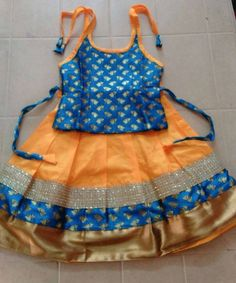 Kids Trendy and traditional pattu pavadai langa from www.princenprincess.in