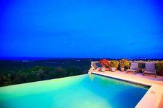 Gorgeous infinity pool at dusk