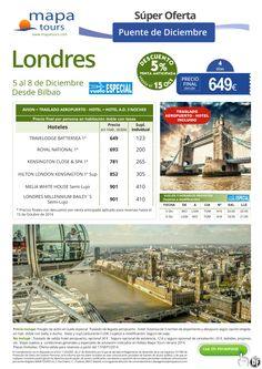 Londres Puente diciembre Vuelo especial desde Bibao**Precio final desde 649** ultimo minuto - http://zocotours.com/londres-puente-diciembre-vuelo-especial-desde-bibaoprecio-final-desde-649-ultimo-minuto/