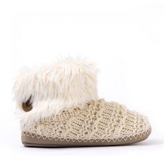 Bedroom Athletics - Knitted Slipper Boots - Natural - Medium