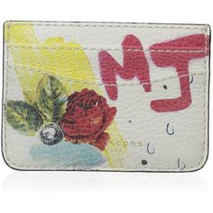 Marc Jacobs Collage Printed Leather Card Case ($180) ❤ liked on Polyvore featuring bags, wallets, card case wallet, leather shoulder handbags, marc jacobs wallet, leather wallets and handbags shoulder bags
