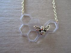 Honeycomb Necklace by mgthreads on Etsy