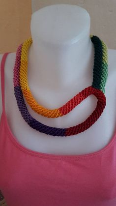 ElinorHandmade / Náhrdelník dúhových farieb Crochet Necklace, Beaded Necklace, Jewelry, Beaded Collar, Jewlery, Pearl Necklace, Jewerly, Schmuck, Beaded Necklaces