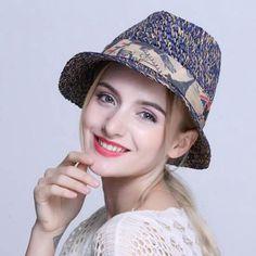 Fashion straw panama hat for women UV package crochet sun hats