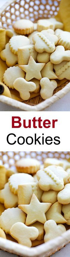 Butter Cookies – EASIEST & BEST butter cookies recipe ever! Loaded with butter, crumbly, melt-in-your-mouth deliciousness. Perfect cookies for holidays | rasamalaysia.com