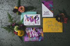 graphic print invitations