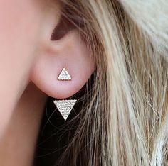 40ce7590a Barato Novo Strass Brilhante Geométrica Triângulo Brincos Mulheres Jóias  Exclusivas de Design Da Marca Famosa Na