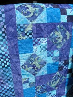 Quilting: Purple Baby Quilt-Big Projects on a Small Machine
