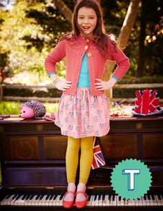 Girls 1 H 12yrs Everyday Cord Skirt Shop Winter 2014 at Boden USA |Women's, Men's & Kid's Clothing & Accessories