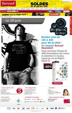 Projet Opérations Commerciales - Py Colors :   DJ Morgan.  Venez rencontrer Morgan DJ D'NRJ Extravadance qui mixera et présentera le nouveau logiciel de mix de MAGIX : Digital DJ.