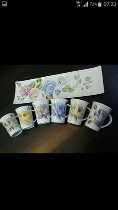 Tea set painted by Aline Koyess