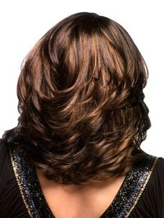 Medium Layered Hairstyles for African American women-2