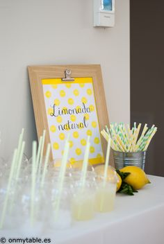 limonada mesa dulce comunión fiesta eventos