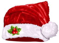 Large Transparent Christmas Santa Hat PNG Clipart