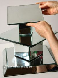 Purchasing a Wedding Cupcake Stand | Simply create a tower of mirrors starting at the base using the ...