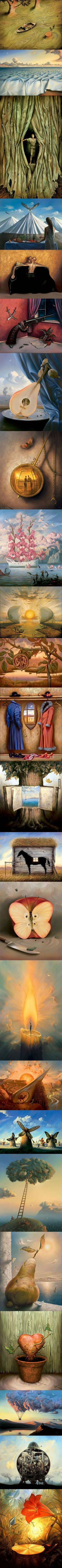 Surrealist Paintings by Valdimir Kush