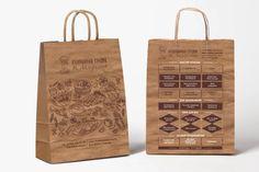 Крафт-пакеты Кулинарной студии И. Лазерсона — графический дизайнер Николаева Наталья