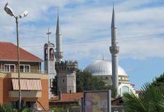 #Tirana #Albania Minaret and Churchtower