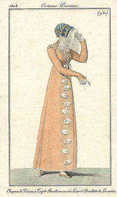 Pelisse in orange 1808 Costume parisien