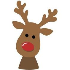 Silhouette Design Store - View Design #103996: reindeer face