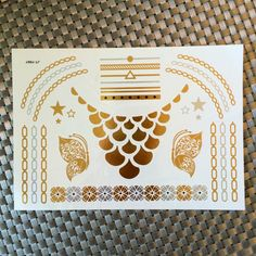 Gold and Silver Temporary Metallic Tattoos, Like Flash Tats - Hipster Jewelry Temporary Tattoos Hipster Blog, Hipster Jewelry, Hipster Accessories, Flash Tats, Metal Tattoo, Tattoo Blog, Tatting, Unique Jewelry, Handmade Gifts