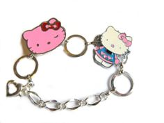 Darling Tiny Metal Hello Kitty Charm Bracelet Adjustable For  Baby or Little Girl's Framily Jewelry