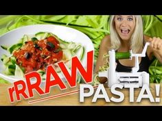 Raw Zucchini Pasta Recipe with Raw Pasta Sauce - Spiral Cutter - YouTube