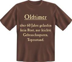 T-Shirts mit Print - Shirt 4956: Geburtstag Oldtimer 60, ohne Versand - ein Designerstück von makengo bei DaWanda (Funny Diy Gifts)