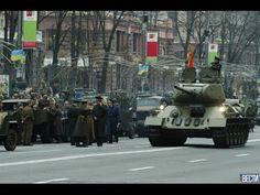 Парад победы в Киеве и Новороссии 9 мая 2015 - YouTube