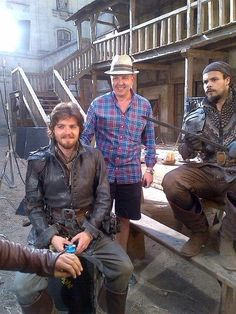 The Musketeers on set