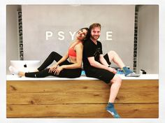 Such studio love on a Sunday  INTRODUCING THE HUSBAND @tippettcooper - rocking my FROW  every Sunday morning 11am @psyclelondon Canary Wharf  he's come such a long way and is smashing his rides at the moment (can you tell from all the SWEAT!!) #proudwife  This is literally one of my favourite classes all week - such relaxed and easy energy from everyone  love you all xxx  #psycle #psyclelondon #fitfam #fitspo #ride #ridetogether #fitcouple #londonfitness #fitlondon #spin #spinning #cardio…