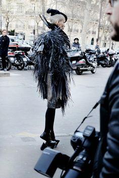 JORGE AYALA: Paris Fashion Week FW14 Lily Gatins at Gareth Pugh ...