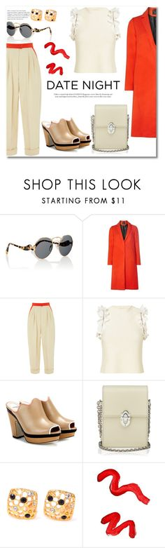 """""""Nude and Red"""" by vkmd ❤ liked on Polyvore featuring Prada, Dorothy Perkins, Andrew Gn, 3.1 Phillip Lim, Fendi, Topshop and DateNight"""