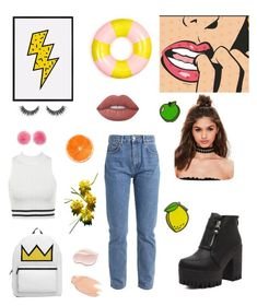 """""""🍋🍊⚡️"""" by emese-knolmar on Polyvore featuring beauty, Missguided, ban.do, Wild & Woolly, Too Faced Cosmetics and Lime Crime"""
