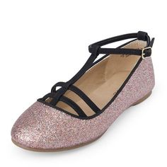 Girls Cage Strap Sparkly Avery Flat - Multi - The Children's Place