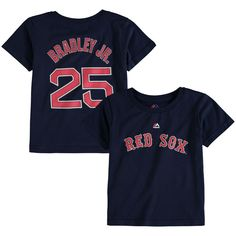 Jackie Bradley Jr. Boston Red Sox Majestic Toddler Player Name and Number T-Shirt - Navy - $17.99