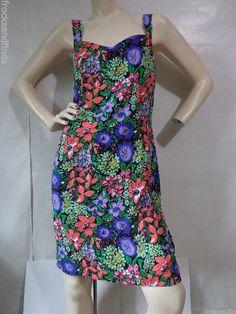 Vtg 80's Floral Sun Dress PARIS SPORTS CLUB Womens size 11 Sleeveless #ParisSportClub #Sundress #Casual
