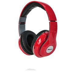2BOOM Epic Jam Wireless Bluetooth Over Ear Headphones Bass Stereo Headset Red * You can find more details by visiting the image link.