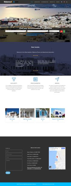 This is a screenshot of latest project, web development of mykonosrna.com, the official website of  Mykonos Rooms and Apartments Association.