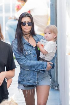 Kourtney Kardashian Photos - Kim Kardashian, Kourtney Kardashian and Their Children Attend a Birthday Party in Studio City - Zimbio