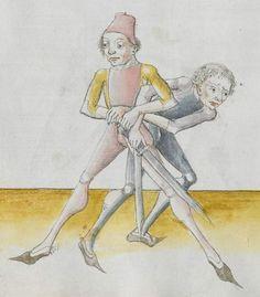 Lecküchner, Hans: Kunst des Messerfechtens Nordbayern, 1482 Cgm 582 Folio 194