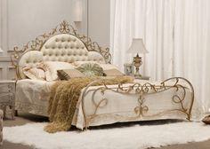 28. SALERNO, Italiaanse luxe bed (prijzen en info) - 2 Persoons Bedden - BEDDEN Classic Line - Bedden : Metalen bedden en ijzeren ledikanten