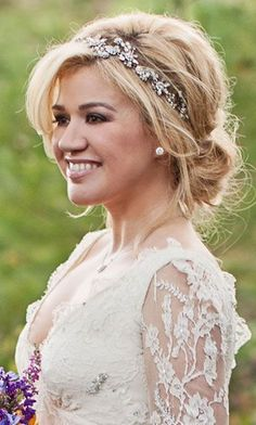 wedding hairstyles with headband                                                                                                                                                     More